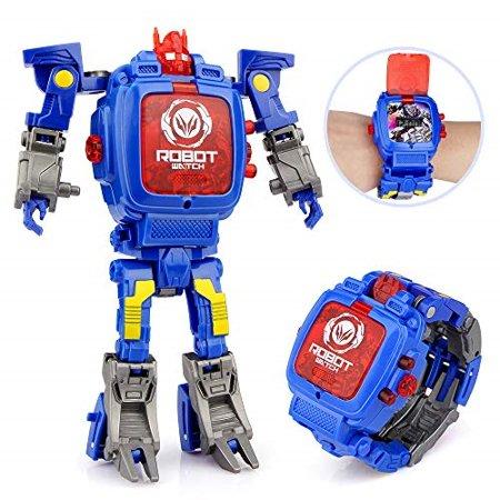 Baztoy Transformers Toys Watches for Kids 2 in 1 Deformation Robot Toys  Kids Digital Watch for 3,4,5-10 Years Old Boys Girls Ele
