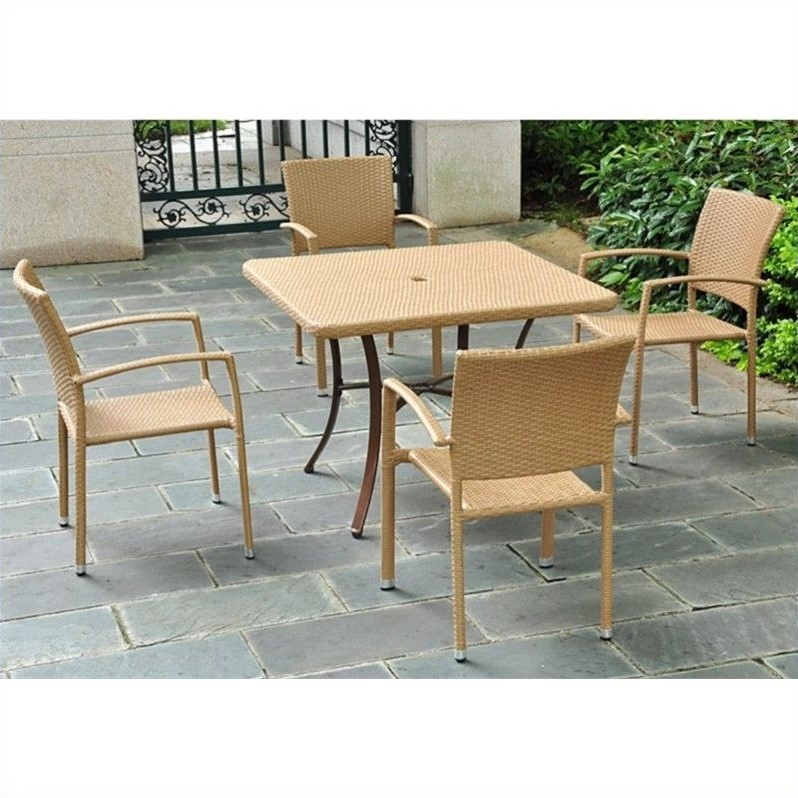 International Caravan Barcelona Patio Dining Table in Honey Pecan - image 1 of 1