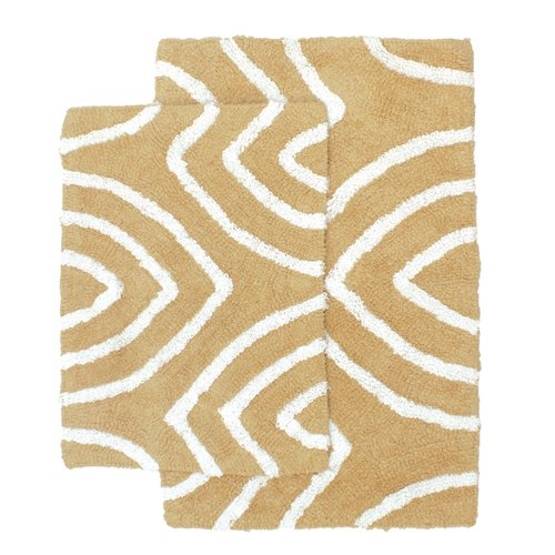 Leaf Tips Bath Rug Set Taupe 17 Quot X24 Quot And 21 Quot X32