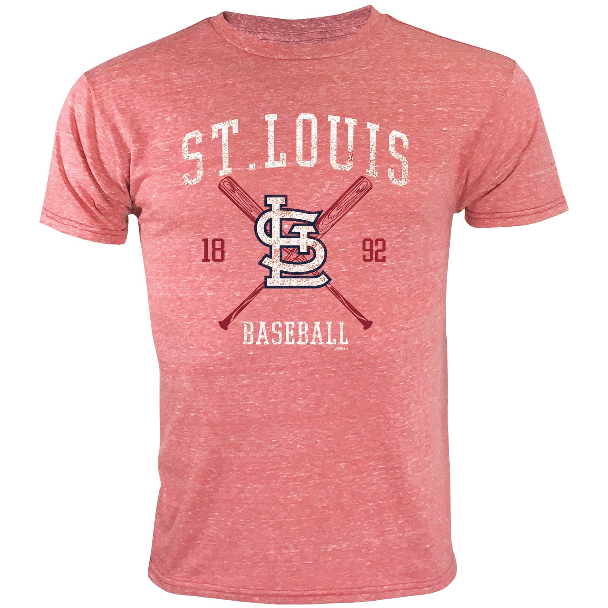 St. Louis Cardinals Youth Heather T-Shirt - Red