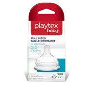 Playtex Baby Medium Sized Shape for Wider Mouths, BPA Free, 3M+ Medium Flow, 2 Silicone Nipples