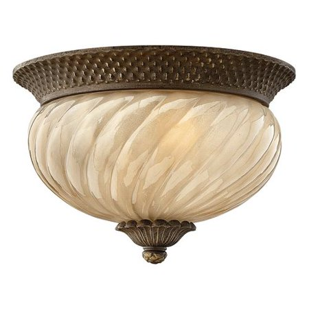 Hinkley Lighting H2128 2 Light Outdoor Flush Mount Ceiling Fixture from the Plan