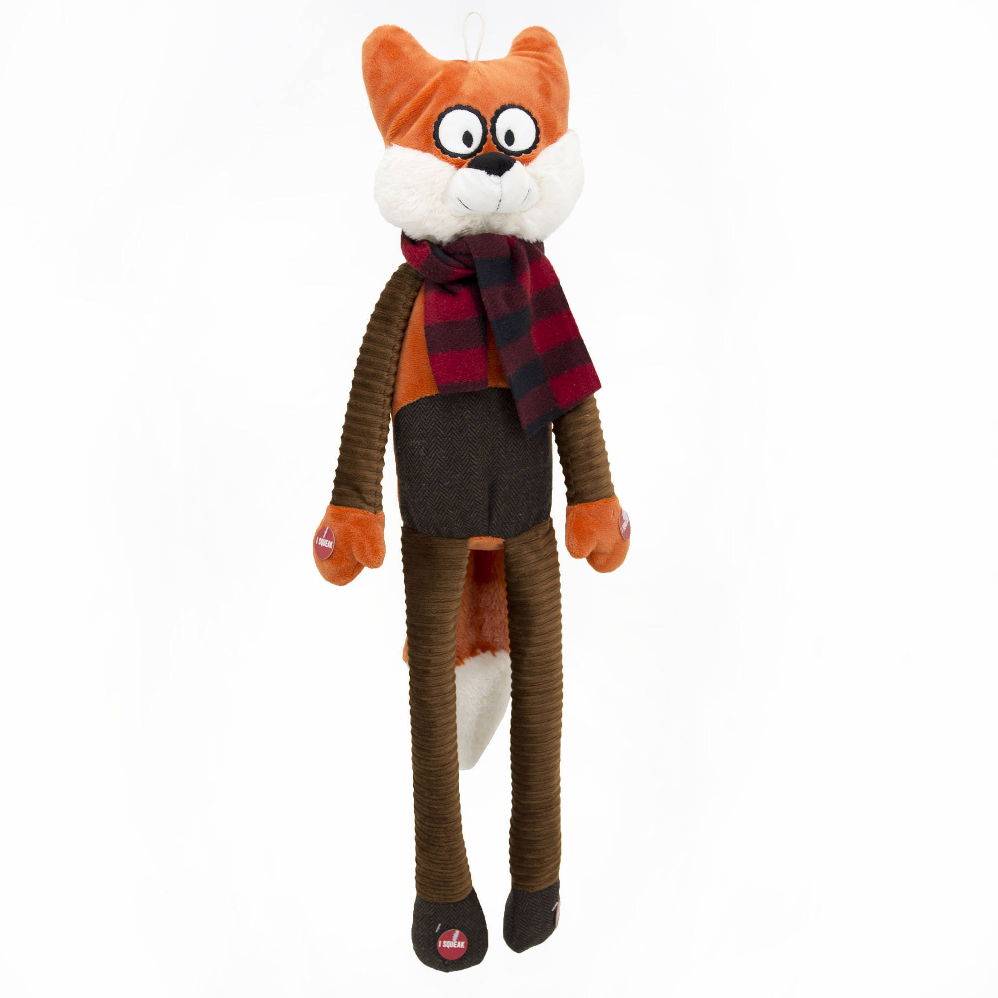 30-inch Holiday Long Body Fox Dog Toy by CHUANGYI