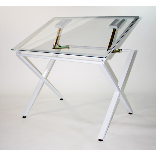 Gentil Martin Universal X Factor Drawing/Drafting Table With Glass Top