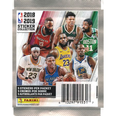 NBA Basketball 2018-19 Sticker Collection Pack