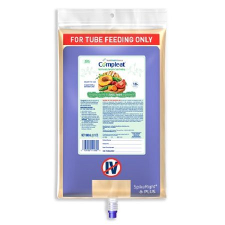 Compleat Spike Right Plus Tube Feeding Formula  1000 mL Bag Ready to Hang Unflavored Adult - Case of 6 1 000 Ml Bag