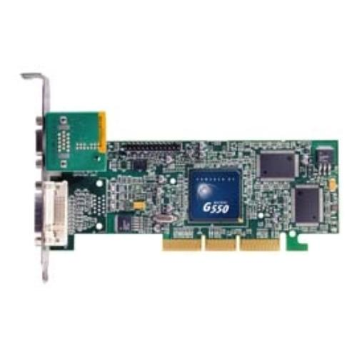 Matrox Mga G550 Graphics Card - Matrox Mga G550 - 32mb Ddr Sdram 64bit - Agp 4x - Dvi, Hd-15 (77541)