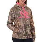 and Mossy Oak Women's Camo Performance Pullover Fleece Hoodie