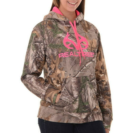 Realtree and Mossy Oak Women's Camo Performance Pullover Fleece Hoodie (Mossy Oak Fleece Beanie)