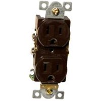Commercial Duplex Receptacle 15A 125V Brown
