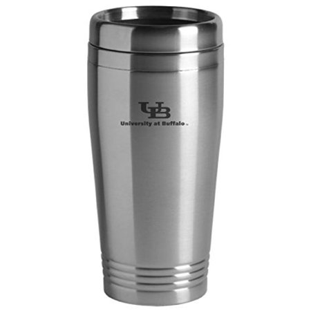 University At Buffalo  The State University Of New York   16 Ounce Travel Mug Tumbler   Silver