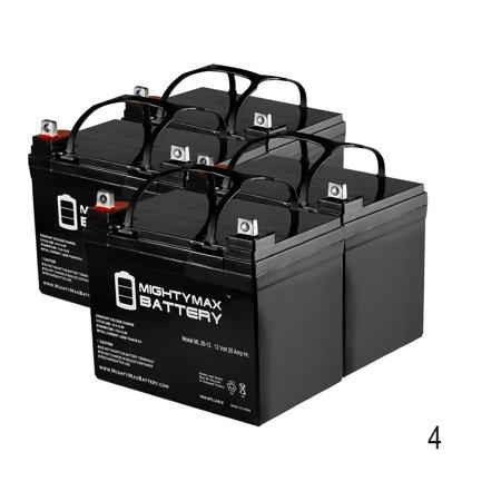 12V 35AH SLA Battery for Burke Mobility Scout M1 M2 - 4 Pack