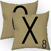 Checkerboard, Ltd Letters of Affection Throw Pillow (Set of 2)