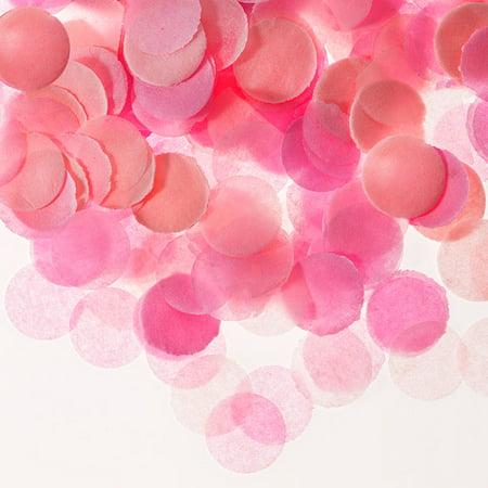 Darice Pink Tissue Paper Confetti Tube, 0.625in, 0.9oz](Confetti Paper)