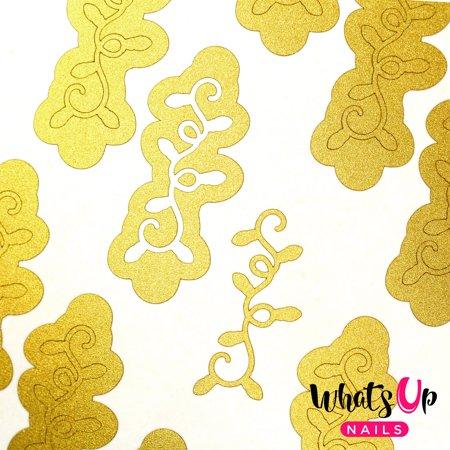 Whats Up Nails - Christmas Lights Vinyl Stencils Nail Art Design ()