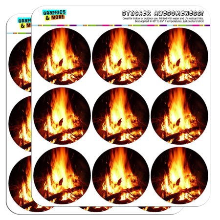 Campfire Camp Camping Fire Pit Logs Flames 2