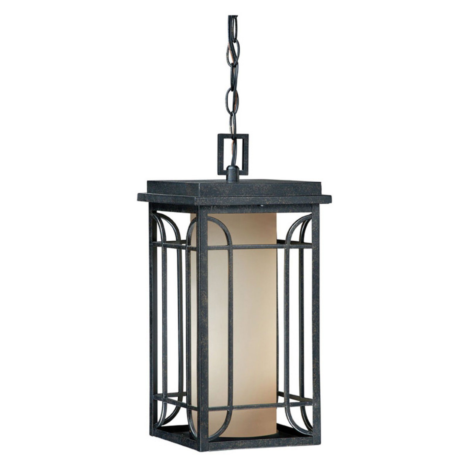 Vaxcel Newport Outdoor Pendant - 8W in. Gold Stone