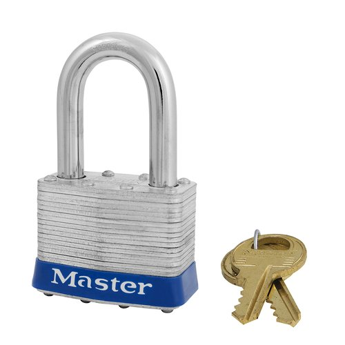 "Master Lock 51mm Laminated Padlock with 1-1/2"" Shackle"
