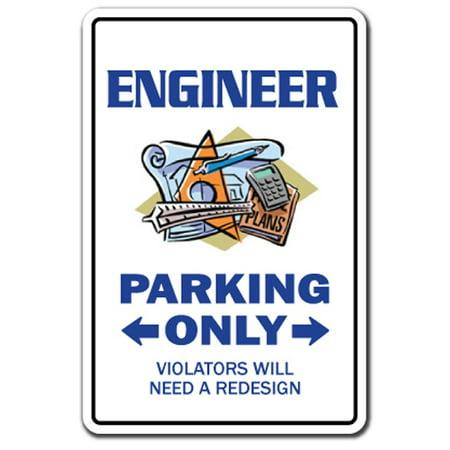 Engineering Decal (ENGINEER Parking Decal drafting tools engineering electrical civil train | Indoor/Outdoor | 5