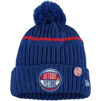 Detroit Pistons New Era Youth 2019 NBA Draft Cuffed Knit Hat - Blue - OSFA