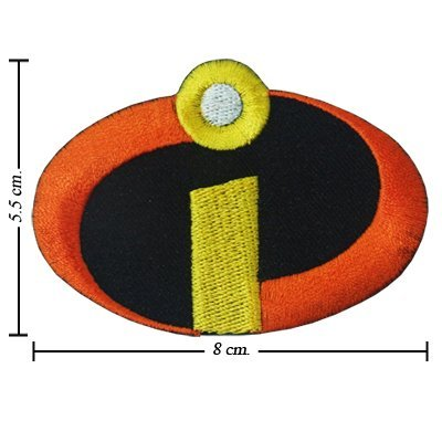 The Incredibles Logo 8cm x 5.5cm Embroidered Iron On Applique Patch