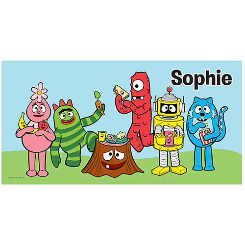 Personalized Yo Gabba Gabba! Tummy Party Beach Towel