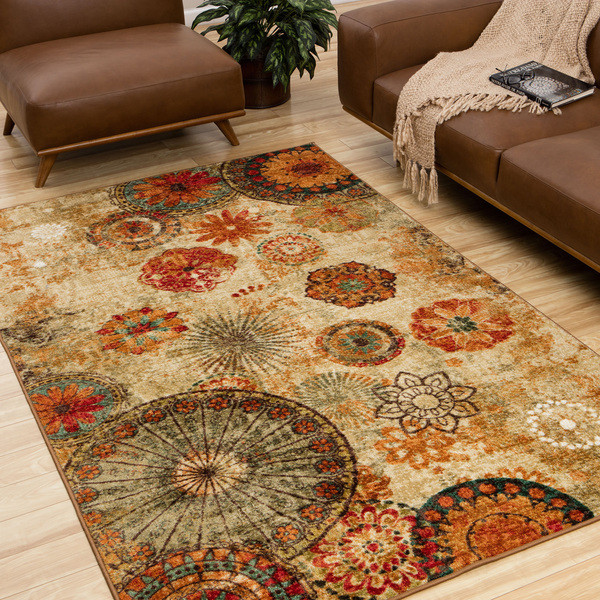 Townhouse Rugs 60 Inch By 96 Inch Area Rug Medallion