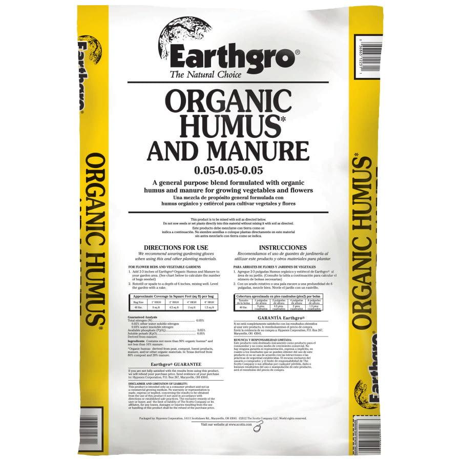 Earthgro Organic Humus and Manure, 40 lbs