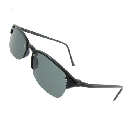 Semi Rim Plastic Arm Oval Lens Polarized Sunglasses for Woman