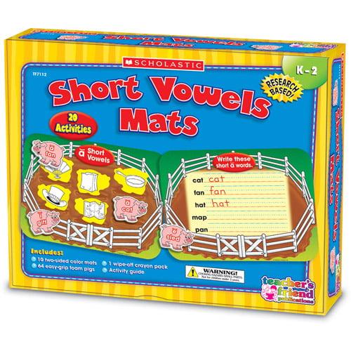 Scholastic Vowels Mats Kit, Short Vowels, Pigs, Grades K-2