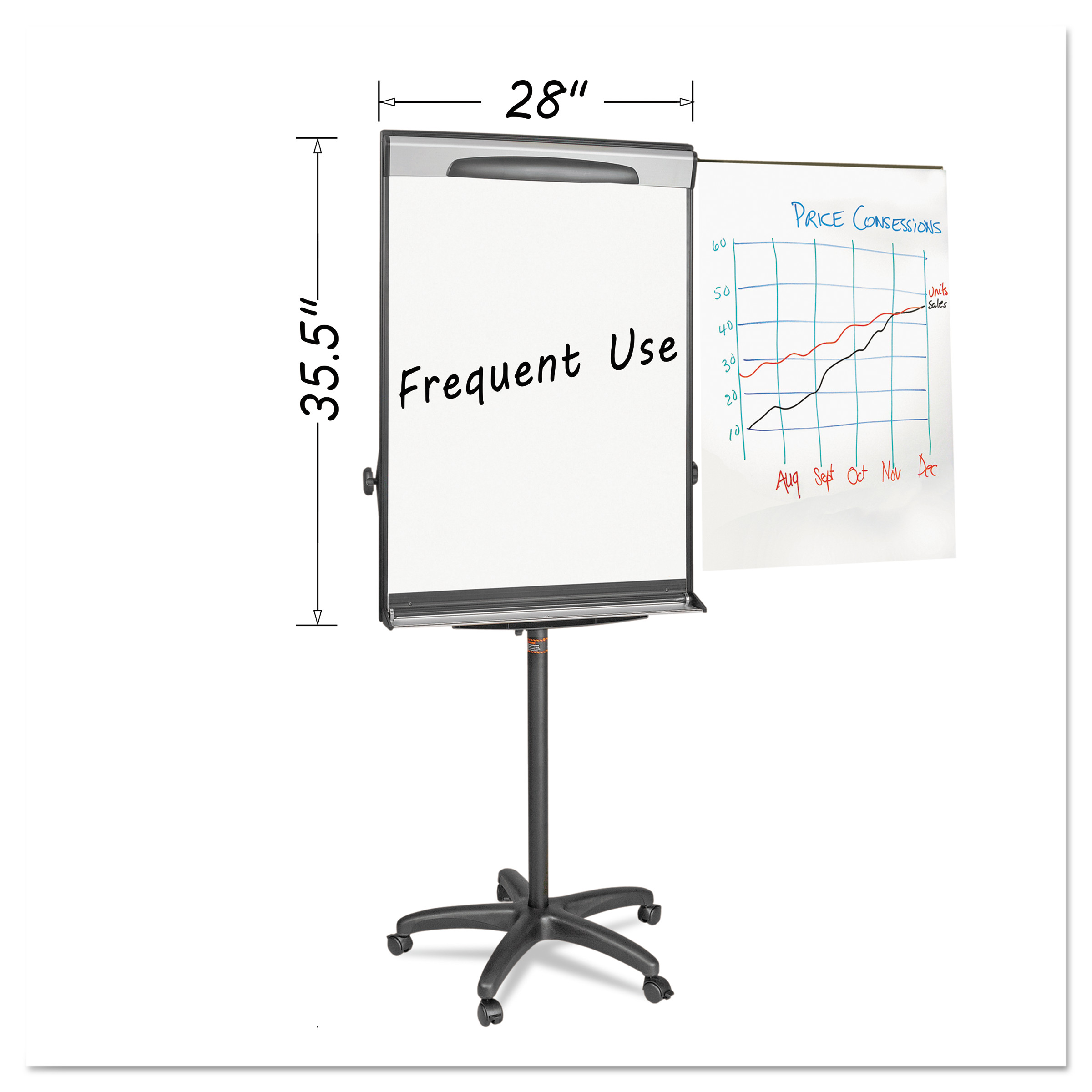 MasterVision Tripod Extension Bar Magnetic Dry-Erase Ease...