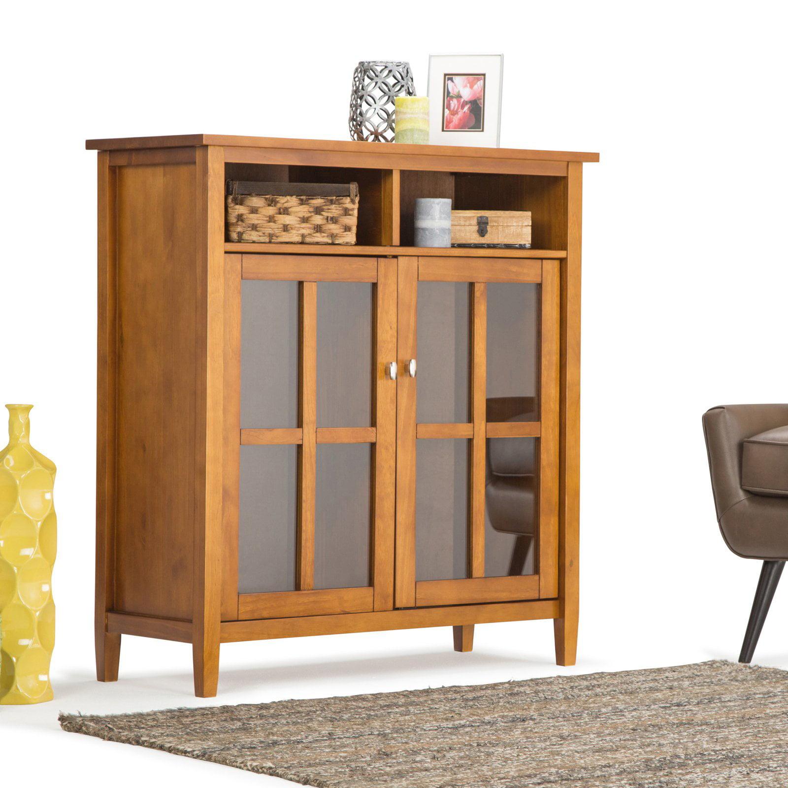 Simpli Home Warm Shaker Medium Storage Media Cabinet by CCT Global Sourcing Inc