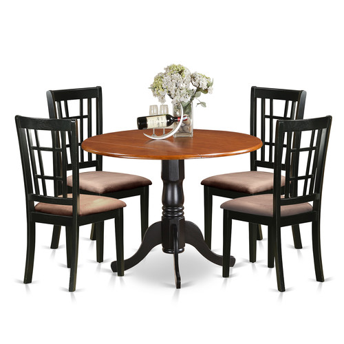 East West Furniture 5 Piece Extendable Dining Set