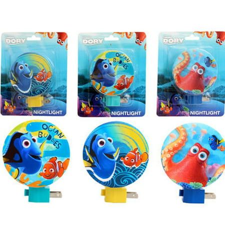 Disney Nemo Finding Dory Kids Decor Night Lights Lamp w Bulb Collectible  (Style May Vary)](Bulk Night Lights)