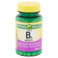 Spring Valley Vitamin B6 Tablets, 100 mg, 250 Count