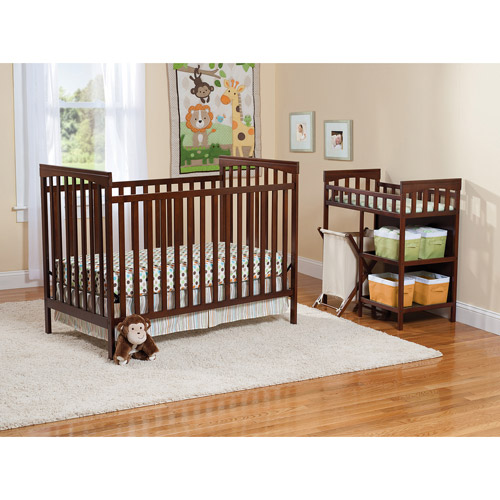 Carter's Child of Mine Sweet & Simple Nursery 3-in-1 Convertible Crib Mocha