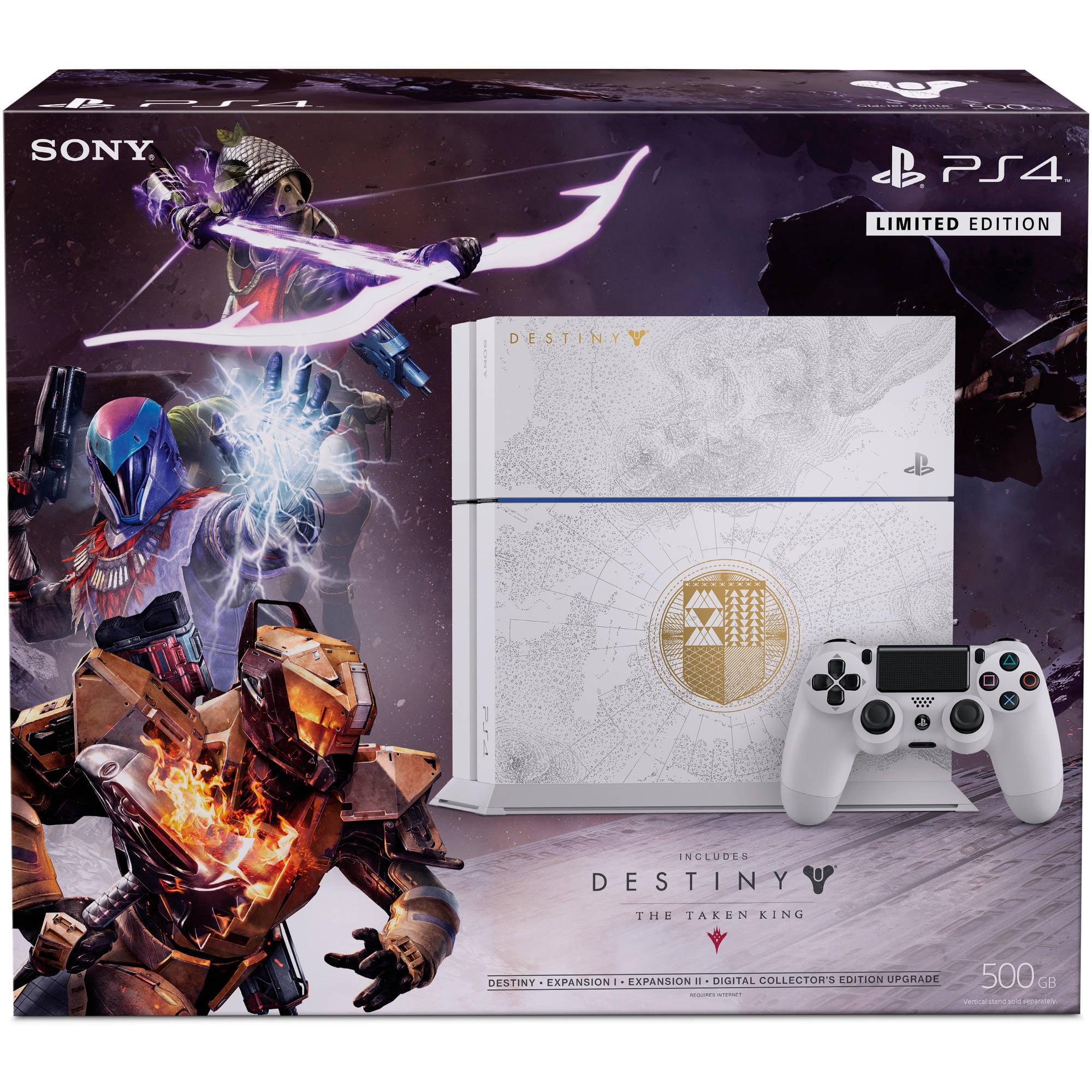 Playstation 4 500gb Limited Edition Destiny The Taken King Bundle Ps4 Walmart Com Walmart Com