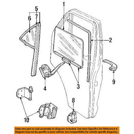 Dodge D250 Tailgate (Dodge CHRYSLER OEM 85-93 D250 Front Door-Lock Latch Kit 55075873 )