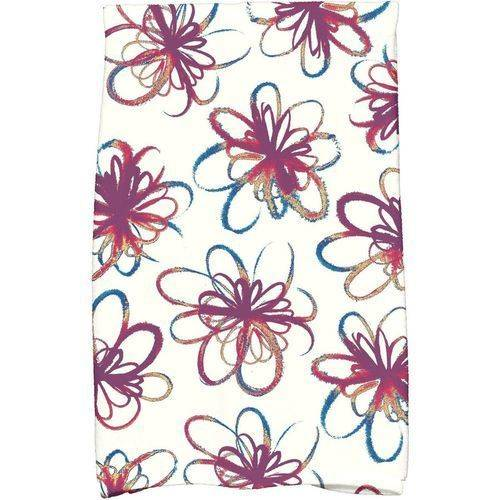 """Simply Daisy 16"""" x 25"""" Penelope Holiday Floral Print Kitchen Towel by E By Design"""