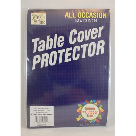 All Occasion Rectangle 52 x 70 inch Clear Plastic Vinyl Table Cover - Plastic Table Covers Clear