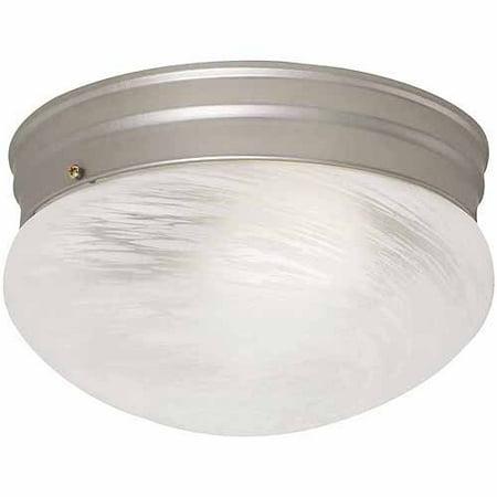 design house ceiling mount silver fluorescent round light 517326. Black Bedroom Furniture Sets. Home Design Ideas