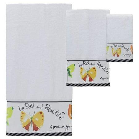 Kathy Davis Flutterby Bath, Hand and Fingertip Towel - Kathy Davis Dinnerware
