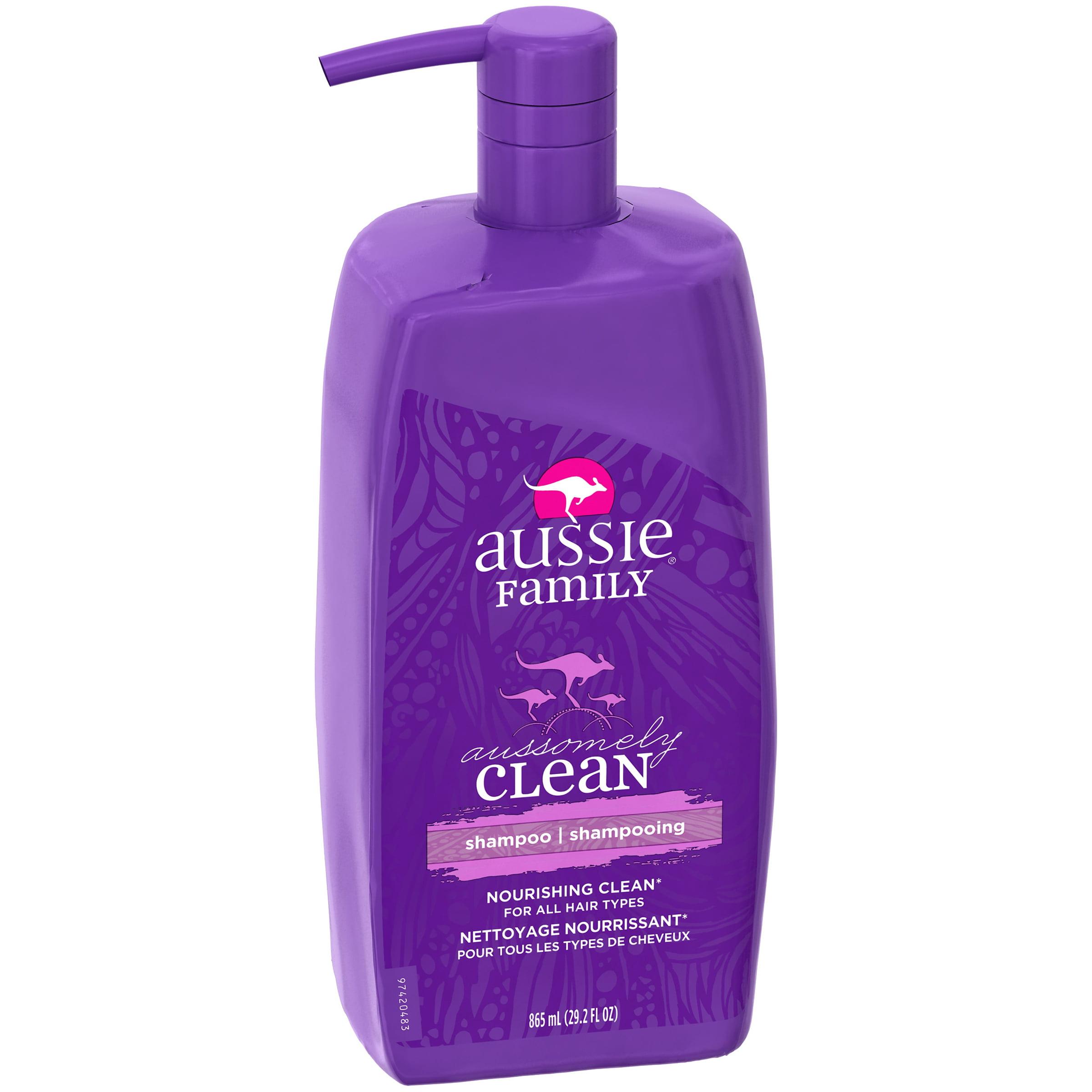 aussie aussomely clean family shampoo 29 2 fl oz walmart com