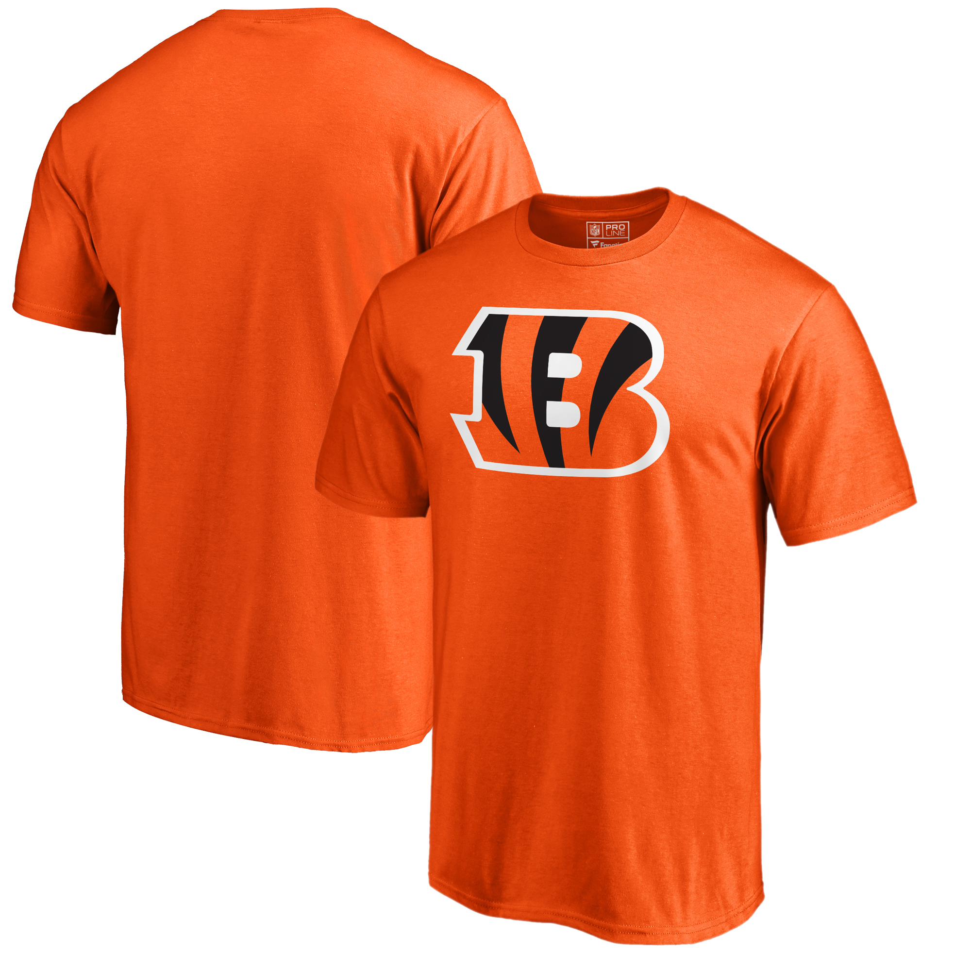 Cincinnati Bengals NFL Pro Line by Fanatics Branded Primary Logo T-Shirt - Orange