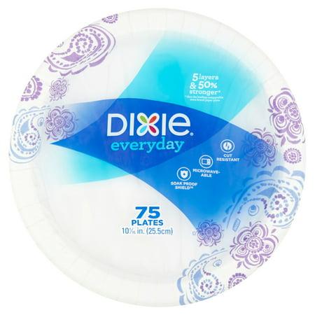 Dixie Everyday Paper Plates, 10 1/16u0022, 75 count