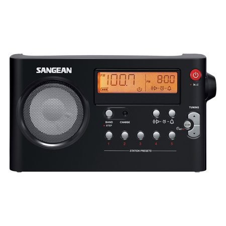 sangean all in one compact portable digital am fm radio with built in speaker earphone jack. Black Bedroom Furniture Sets. Home Design Ideas