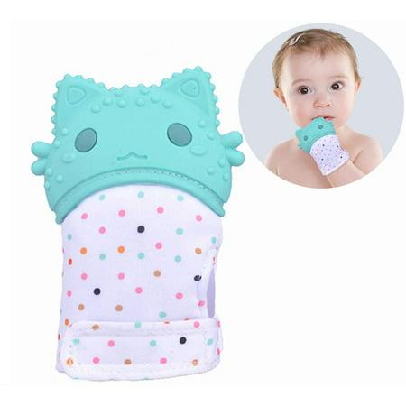 Teething Mitten For Babies, Ultimate Self-Soothing Teething Toy, Teething Glove BPA Free, Absorbs Drool & Washable, Adjustable Strap