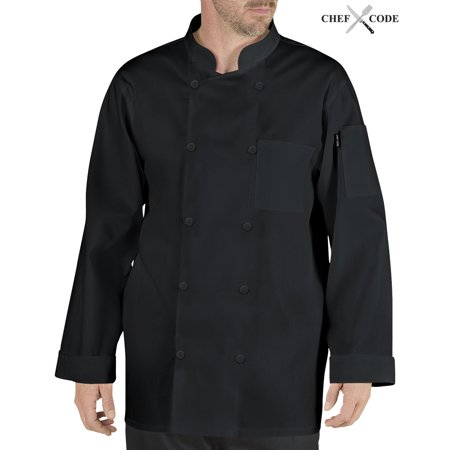 Chef Code Stephano Classic Chef Coat with Pearl Buttons (Classic Chef Coat)