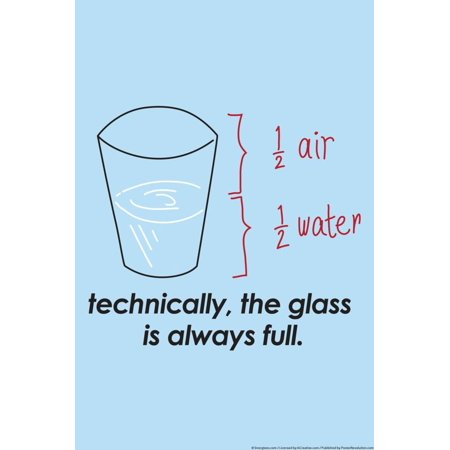 - Glass is Always Full Print Wall Art By Snorg
