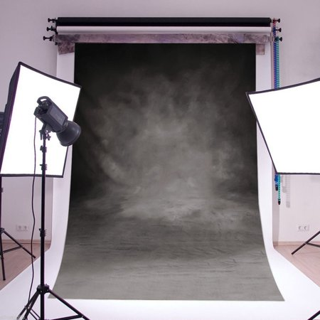 3X5FT Retro Gloomy Wall Vintage Black Grey Photography Backdrop Background Camera & Photo Studio Prop Vinyl